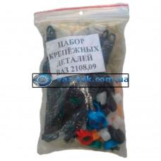 Комплект пластикового крепежа ВАЗ 2108 Пластик-Сызрань